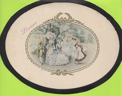 CHROMOS LITHOGRAPHIE ART NOUVEAU Relief  Prenom LUCIENNE 170mmx220mm N052 - Confectionery & Biscuits