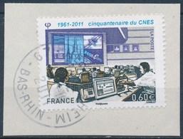 France - Centre National D'Etudes Spatiales YT 4604 Obl. Cachet Rond Sur Fragment - Oblitérés