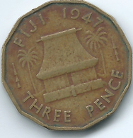 Fiji - George VI - 1947 - 3 Pence - KM15 - Fiji