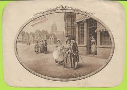 CHROMOS LITHOGRAPHIE   Prenom THERESE  30 Juillet 1908 Decor De Boite De Dragees 185mmx132mm N052 - Confectionery & Biscuits