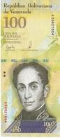 BILLETE DE VENEZUELA DE 100000 BOLIVARES 7 DE SEPTIEMBRE DEL 2017 EN CALIDAD EBC (XF)   (BANK NOTE) PAJARO - Venezuela