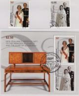 New Zealand 2007 Royal Diamond Wedding Anniversary Set Of 2 + Minisheet Used - New Zealand
