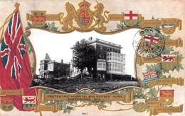 Sherbrooke Québec - Protestant Hospital & Nurses' Home - Patriotique Patriotic Embossed - Written 1908 - 2 Scans - Sherbrooke