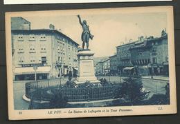 Le Puy La Statue De Lafayette - Le Puy En Velay