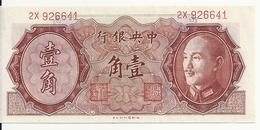 CHINE 10 CENTS 1946 AUNC P 395 - Chine