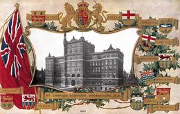 Sherbrooke Québec - Séminaire Saint-Charles Seminary - Patriotique Patriotic Embossed - 2 Scans - Sherbrooke
