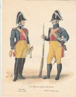 Gravure Format 21/27 Cm  - Gendarmerie Royale Des Départements : Tropette Et Maréchal Des Logis à Pied - Police & Gendarmerie
