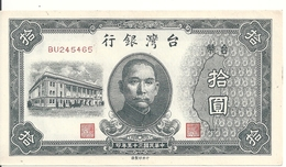 CHINE 10 YUAN 1946 AUNC P 1937 - Chine