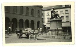 ATH : Grand-Place (attelage, âne, Statue Eugène Defacqz) - Places