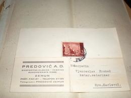 Zemun Predovic A D Eksportna Klanica Fabrika Suhomesnate Robe NDH Nezavisna Drzava Hrvatska Stamps 1943 - Serbia