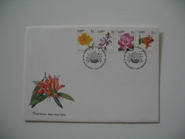 Enveloppe Thailand   1989  Bangkok   Fleurs   à Voir - Thaïlande