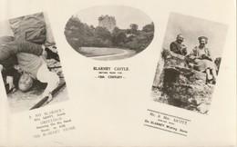 Ireland   Eire 1954 No Blarney Greetings  Blarney Castle   On Blarney Wishing Stone R P P C - Cork