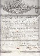 FRANCE 1823 PARCHEMIN 45*36 ORDRE ROYAL DE LA LEGION D'HONNEUR SIGNE LOUIS + MACDONALD - Documentos Históricos