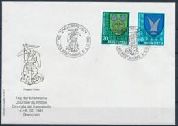 1981 TAG DER BRIEFMARKE  Mit Pro Juventute Frankatur - GRENCHEN - Lettres & Documents