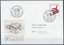 1986 TAG DER BRIEFMARKE  Mit Pro Juventute Frankatur - KREUZLINGEN - Lettres & Documents