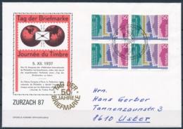 1987 TAG DER BRIEFMARKE  Mit Pro Juventute Frankatur - ZURZACH - Lettres & Documents