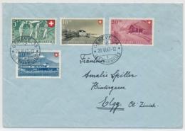 1947 Pro Patria Satzbrief - Gelaufen Von Genf Nach Elgg ZH - Cartas