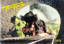 Catalogue FLEISCHMANN 1956 Trains Miniatures électriques Et à Ressort à L'échelle HO Et O - Machines à Vapeur-en Suédois - Livres Et Magazines