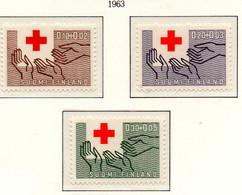 PIA - FINLANDIA  - 1963 : Centenario Della Croce Rossa Internazionale - (Yv 551-53) - Primo Soccorso