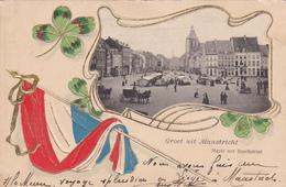 Groet Uit Maastricht - Markt Met Boschstraat - Gaufrée - Maastricht