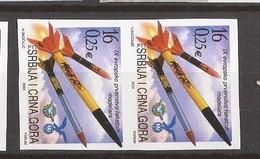 2003 3142 RAKETENMODELBAU EUROPA  MONTENEGRO  CRNA GORA SRBIJA SERBIEN JUGOSLAVIJA RRR IMPERFORATE SELTEN MNH - Montenegro