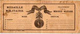 VP14.948 - MILITARIA - PARIS X CRETEIL 1930 - Traitement Médaille Militaire - Livret Avec Photo LE GUILLOUX Né Au HAVRE - Documents