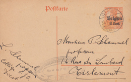 Carte  Entier  Postal   BELGIQUE   DIEST   1918 - German Occupation