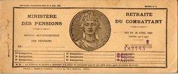 VP14.949 - MILITARIA - CRETEIL X BRUNOY 1940 -  Pensions / Retraite Du Combatant - Livret LE GUILLOUX Né Au HAVRE - Documents