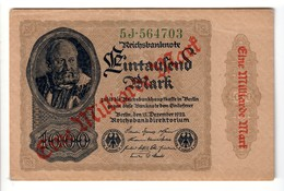 Germania Germany 1 Milliarde Mark 1922 Lotto.1687 - [ 3] 1918-1933: Weimarrepubliek