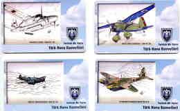 Série De 12 Cartes - AVION - AVIATION - PLANE - Télécarte Turquie - Avions