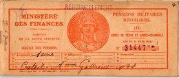 VP14.950 - MILITARIA - PARIS X CRETEIL 1938 - Pensions Militaires - Livret Avec Photo LE GUILLOUX Né Au HAVRE - Documents