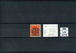 Deutsches Reich, Plattenfehler / Abart, Xx, 295 Mit 20 Strichen - Abarten