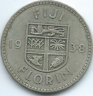 Fiji - George VI - 1938 - Florin - KM13 - Only 20,000 Minted - Figi