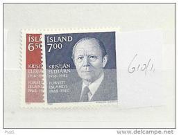 1983 MNH Iceland, Island, Mi 610-1, Postfris - 1944-... Republik