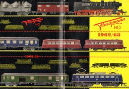 Catalogue FLEISCHMANN 1962-63 Trains Miniatures électriques  à L'échelle HO - Machines à Vapeur -en Suédois - Other