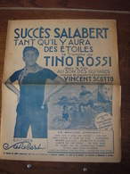 Partitions-SUCCES SALABERT Le Triomphe De Tino Rossi (Tant Qu'il Y Aura Des étoiles-Tchi...Tchi & 9 Autre Succès - Scores & Partitions