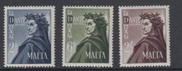 Malta 1965 Dante Alighieri 3v ** Mnh (42796F) - Malta