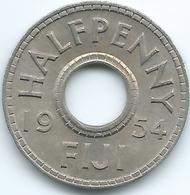 Fiji - Elizabeth II - 1954 - ½ Penny - KM20 - Figi
