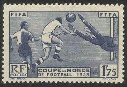333 France Yv 396 Coupe Monde Football Soccer 1938 Cote 15€ MH * Neuf CH Très Légère (396-1) - Neufs