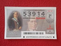 SPAIN DÉCIMO DE LOTERÍA NACIONAL NATIONAL LOTTERY LOTERIE MANUEL DE SEIJAS LOZANO ALMUÑECAR GRANADA POLÍTICO JURISTA VER - Billetes De Lotería