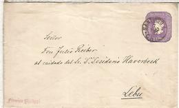 CHILE ENTERO POSTAL COLON MAT SANTIAGO 1893 A LEBU - Chile