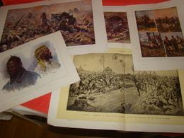 """Lot De 50 Planches """" Supplément Du Panorama De La Guerre ( Guerre 1914-1918 ) - Documents"""