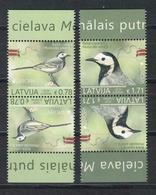 Eiropa CEPT 2019 Latvia / LETTLAND Bird Stamp White Wagtail PAIR TET BESH MNH - Latvia