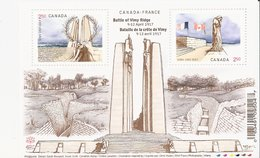 Canada - Bloc Feuillet Y&T N° F3343 (2017) – Battle Of Vimy Ridge (9-12 April 1917) - Blocs-feuillets