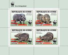 Z08 GU190121a1 Guinea Guinee 2019 WWF Wild Boar MNH ** Postfrisch - Guinée (1958-...)