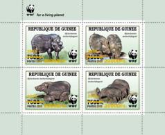 Z08 GU190121a2 Guinea Guinee 2019 WWF Wild Boar MNH ** Postfrisch - Guinée (1958-...)