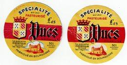 2 Petites ét. LES DUCS - Spécialité Au Lait Pasteurisé Fabriqué En Bourgogne - Fromage