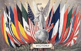 "Scarce WW1 ""Victory"" UK ""Victorious Peace Series"" 1918 Tuck's Postcard, ""Oilette"", Uncirculated, Militaria, Patriotic - Guerra 1914-18"