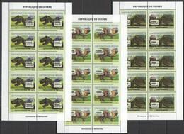 BB017 2007 DE GUINEE FAUNA PREHISTORIC ANIMALS DINOSAURS METEORITES !! 10SET MNH - Stamps