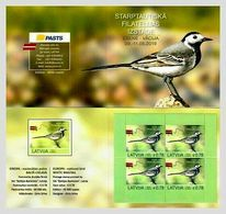 Eiropa CEPT 2019 Latvia / LETTLAND Bird Stamp White Wagtail Booklet MNH - Latvia